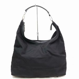 Gucci Large Hobo 870334 Black Nylon Shoulder Bag